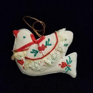 Dove, cloth ornament